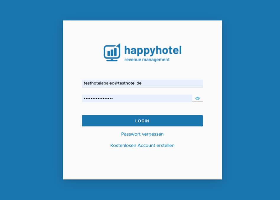 happyhotel login with apaleo