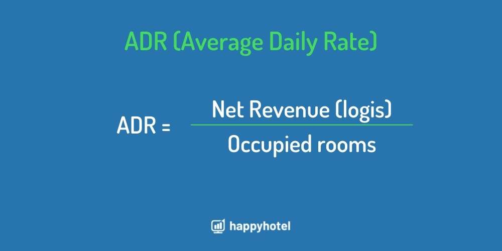 adr average daily rate calculation